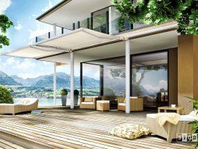 Auvent pour terrasse de maison