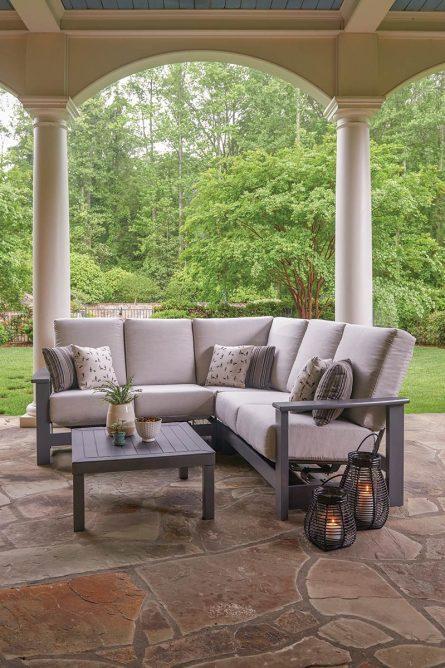meuble de jardin en résine et polymère leeward cushion