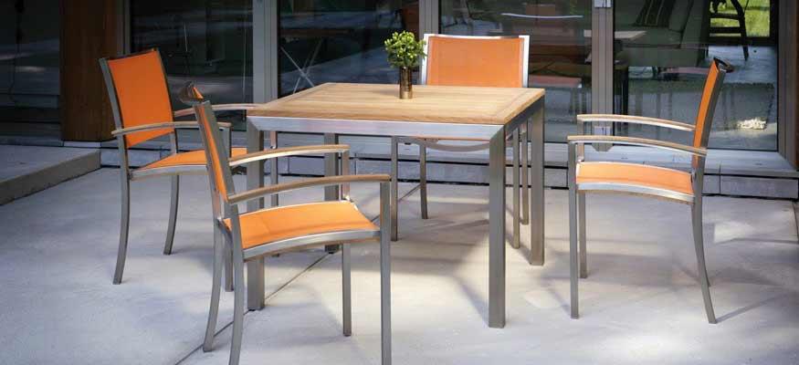 mobilier extérieur en teck pour terrasse