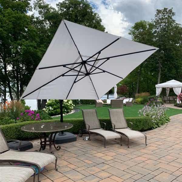parasol déporté inclinable