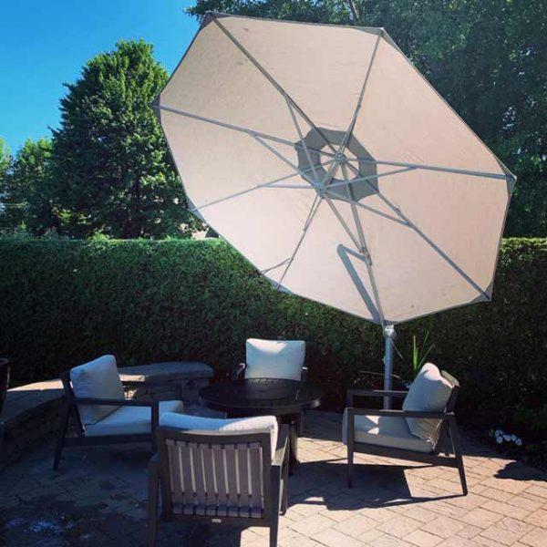parasol excentré hexagonal